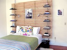 Add Stackable Storage to Your Headboard