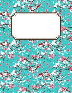 Free Printable Binder Covers New Free Printable Cherry Blossom Binder Cover Template Printable Binder Covers Free, Cute Binder Covers, Binder Cover Templates, Templates Printable Free, Printable Planner, Planner Stickers, Free Printables, School Binder Covers, Printable Calendars