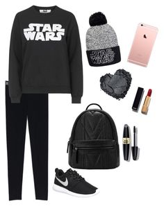 """""""Feeling lazy"""" by siggster ❤ liked on Polyvore featuring Tee and Cake, NIKE, Max Factor and Chanel"""