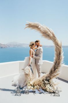 Need a Vacay? This Lavish Santorini Elopement Inspiration will Satisfy Your Craving Do you need a Vacay? This elaborate Santorini Elopement Inspiration will satisfy your craving for quiet junebug weddings Wedding Shoot, Boho Wedding, Wedding Ceremony, Wedding Venues, Dream Wedding, Wedding Dresses, Wedding Ideas, Wedding Posing, 1920s Wedding
