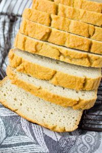 Moist and pliable sandwich bread without the added starches.  You can make it in your blender!