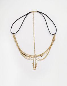 Imagen 2 de Diadema de cadenas con pétalos de ASOS