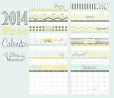 5 Calendarios para el 2014 que puedes imprimir gratis