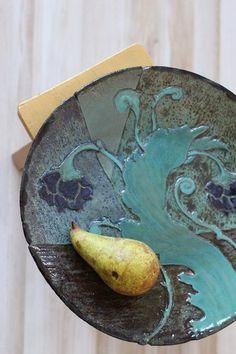 decorative ceramic plate on Etsy, 350,00zł