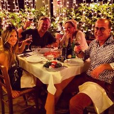 After the #rollingstones concert in #rome with the Smiths experiencing our first #pizza and #vino in #italy #wheninrome #goliathcompany #yanceyevents #scott_yancey #amie_yancey
