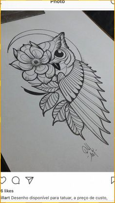 Owl Tattoo Design Ideas The Best Collection Top Rated Stylish Trendy Tattoo Designs Ideas For Girls Women Men Biggest New Tattoo Images Archive Owl Tattoo Drawings, Doodle Art Drawing, Cool Art Drawings, Pencil Art Drawings, Tattoo Sketches, Doodling Art, Bird Drawings, Owl Tattoo Design, Tattoo Designs