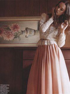 gorgeous lace and chiffon, so feminine
