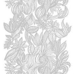 Arvidssons Textil Doodle kangas valkoinen-harmaa