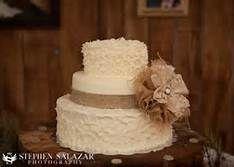 burlap wedding cake - Bing Images
