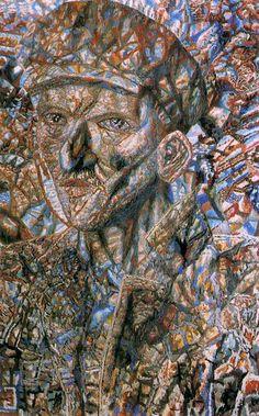 Павел Филонов «Рабочий в кепке» Масло, картон. 58,5 x 37,5 см. Государственный Русский музей