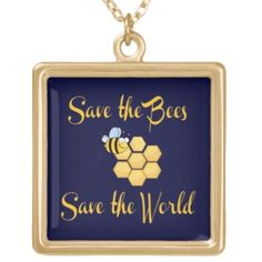 save the bees | Save the Bees Save the World Pendants