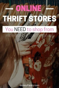 Looking for the best online thrift stores where you can find quality but cheap clothes, furniture, shoes and more? Here are the best online consignment stores. Best Online Thrift Stores, Thrift Store Shopping, Online Shopping Websites, Best Deals Online, Thrift Store Finds, Shopping Sites, Shopping Hacks, Online Thrift Store Furniture, Upcycled Crafts