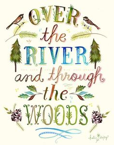 Over the river and through the woods.. Katie Daisy Print