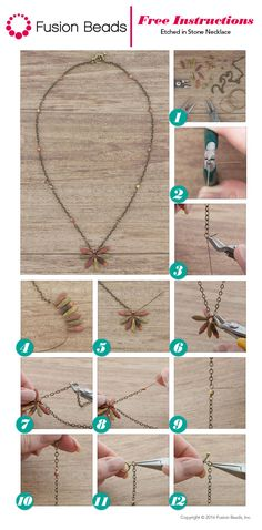 Our Etched in Stone necklace is a quick and easy DIY project to make using fun etched dagger beads and your wire wrapping skills. It's the perfect design to wear to your next festival this summer!