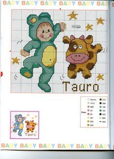 Schema punto croce Baby Oroscopo 11