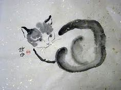Sweet sumi-e or Chinese brush painting