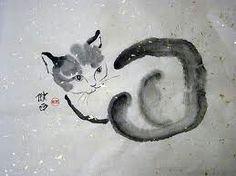 Sweet sumi-e or Chinese brush painting