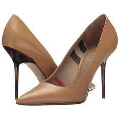 Pre-owned Burberry Deighton Sartorial Classic Heels In Nude Size 38/ 8... ($450) ❤ liked on Polyvore featuring shoes, pumps, camel, plaid shoes, burberry pumps, tartan pumps, nude pumps and nude court shoes