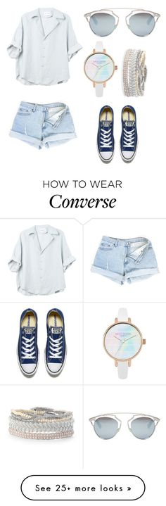 """blue "" by angela229 on Polyvore featuring Christian Dior, Converse and Stella & Dot"