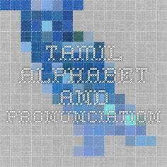 Tamil Alphabet and Pronunciation