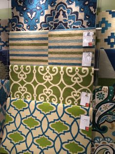 Blue and green area rugs galore!