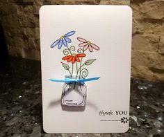 Mason Jar Thank You Card