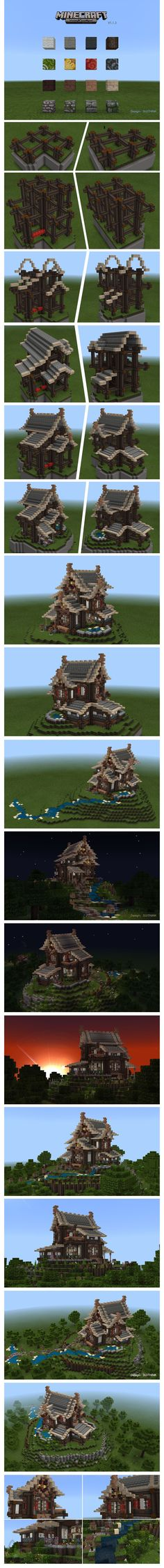 I recognise that build style from the tutorial with the house and the green roof - minecraft
