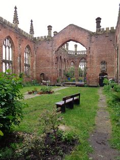 Inside St Luke's aka the bombed out church, Liverpool.