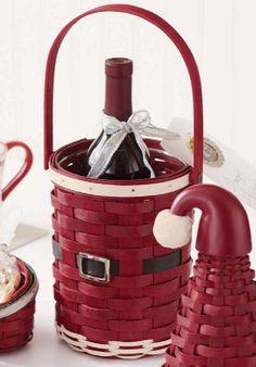 LONGABERGER CHRISTMAS SANTA BELLY BEVERAGE BASKET COMBO - 2012 NEW-FREE SHIPPING   eBay