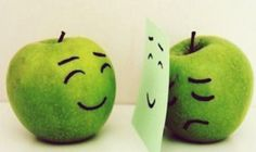 Even apples can fake a smile sometimes