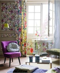 Rich tones of plum and mustard add a sophisticated flair to these florals.