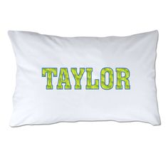 Personalized Patterned Letters Tennis Pillowcase