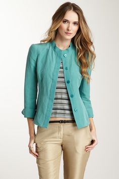 Armani Collezioni Silk Blend Stitch Jacket by Blowout on @HauteLook