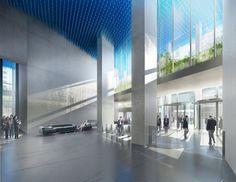 Projet de la tour La Marseillaise, vue du hall, crédits : les Ateliers Jean Nouvel