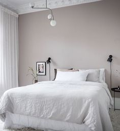 I can't get over the wall colors in this home. The pale pink bedroom walls come peeking through the light grey living room. The pink … Continue reading → Pale Pink Bedrooms, Beige Walls Bedroom, Pink Bedroom Decor, Bedroom Ideas, House Of Philia, Room Colors, Wall Colors, Living Room Grey, Cozy Living