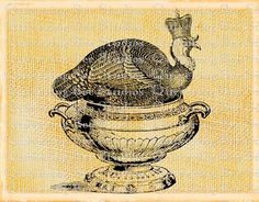 Thanksgiving Turkey Digital Graphic by QuiveringBeeStudios on Etsy, $2.95