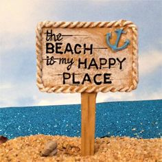 Who doesnt love the beach? Fairy beach sign is perfect for your miniature terrarium scene or your fairy garden. 2 1/2 tall x 1 1/2 wide  PLEASE NOTE : due to variations in computer screen resolutions, the colors as you view them at home may vary slightly from the finished of the product you receive.  This item is not a toy for young children.  This listing is for one sign.