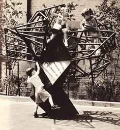 David Aaron. Metal Tree Play Sculpture. 1965. Nathan Strauss Houses. 344 East 28th Street.
