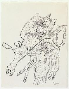 Jean Dubuffet. Cow. December 1954