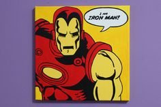 Iron Man Pop Art Painting