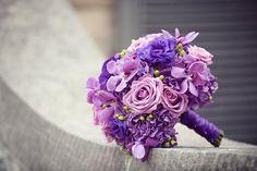 Gorgeous bright purple bouquet
