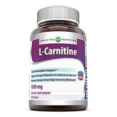 Amazing Nutrition L Carnitine Fumarate Supplement - 1000 mg Mitochondrial Energy Optimizer Tablets - Vegan Workout Results and Recovery Formula - 120 Easy to Swallow Pills Per Bottle *** You can get additional details at the image link.
