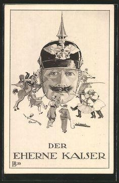 """Everybody hates Willy""  German postcard , C 1915."