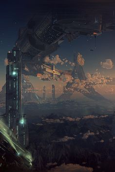Tagged with fantasy, dump, destinybestgameever, helo; Dump of my favorite fantasy world pictures Cyberpunk City, Cyberpunk Kunst, Futuristic City, Sci Fi Fantasy, Fantasy World, Sci Fi Stadt, Science Fiction Kunst, Sci Fi City, Sci Fi Environment