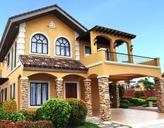 Camella, the largest house and lot developer in the Philippines that has built more than homes in 46 provinces and in more than 130 cities and municipalities. Dream Home Design, Modern House Design, Beautiful Bedrooms, Beautiful Homes, Mexico House, Latest House Designs, Building Images, House Paint Exterior, Affordable Housing