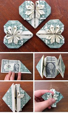DIY Dollar Hearts | DIY Valentine Gifts for Boyfriend for Teens