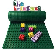 Double-sided LEGO/DUPLO Brick Mat - This soft, double-sided mat supports both LEGO and DUPLO blocks. It instantly makes any surface into a building area and it can roll up for easy storage or for travel.