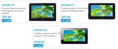 #Ubislate #Android #tablets for under $50 CDN.