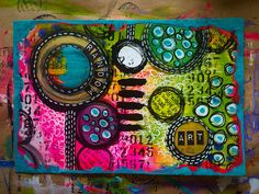 Tracy Scott - ICAD 10 - acrylics and pen. Having so much fun with these! Journal Covers, Art Journal Pages, Art Journaling, Journal 3, Journal Ideas, Bullet Journal, Art Trading Cards, Mixed Media Cards, Art Journal Inspiration