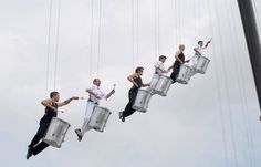 Extreme drumms – Aerial drummers | Troup | Aerials | Circus performers | Performers | Entertainment Agency | Corporate Event Entertainment